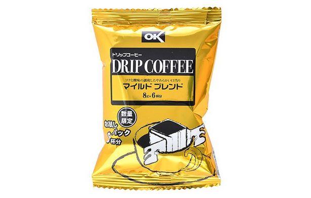 オーケー ドリップコーヒー マイルドブレンド(レギュラー)8g×6杯のオファーを¥99で
