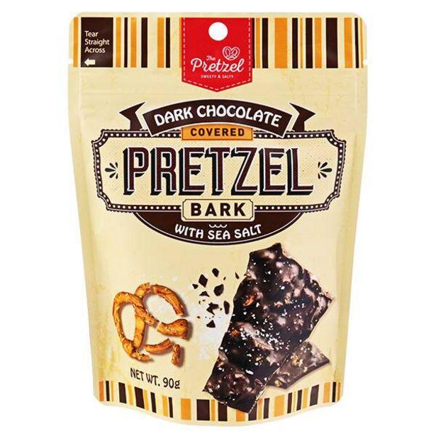 ザ・プレッツェル ダークチョコレートシーソルトプレッツェルバーク 90gのオファーを¥278で