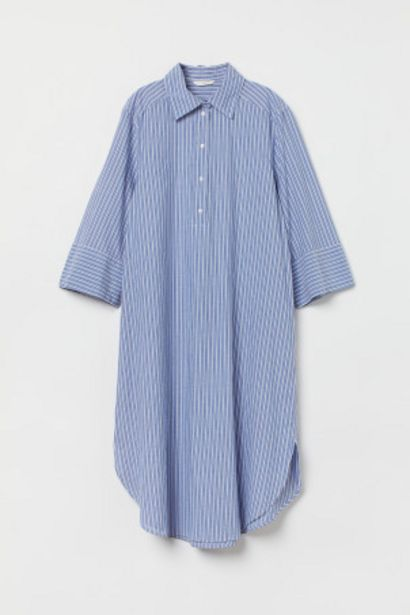 トランペットスリーブシャツドレスのオファーを¥3999で
